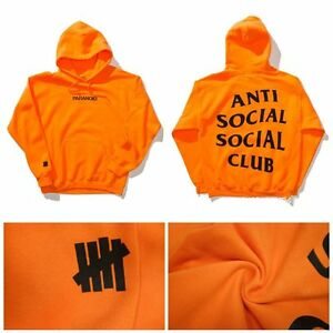 251375840cbb La foto se está cargando Orange-Black-Yeezus-Anti-Social-Social-Club-Hoodie-