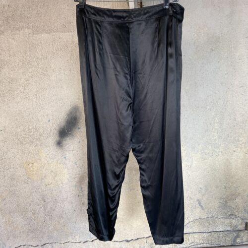 Vintage 1930s 1940s Black Satin Pants Trousers Lou