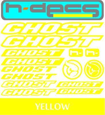 Ghost Bikes T1 Die-cut decal sheet. stickers, cycling, mtb, bmx, road, bike