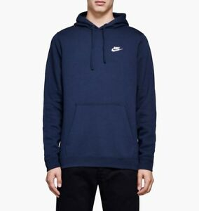 New Men's Nike Club Fleece Pullover Hoodie (804346 451
