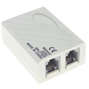 adsl telephone fax rj11 modem broadband phone line filter. Black Bedroom Furniture Sets. Home Design Ideas