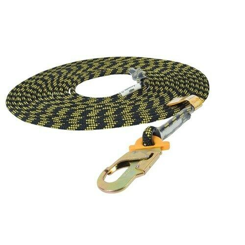 B-Safe Safety Line Kernmantle Rope 11mm x 5m double action hook one end BS010105