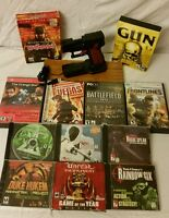 Monstergecko Pistol Mouse Fps Controller Gun Mouse & Pc Game Lot, 12 Pc Games