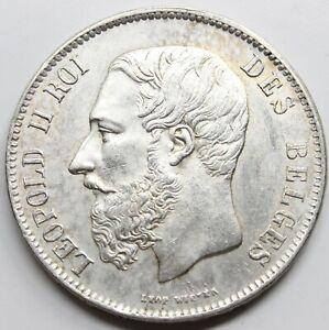 BELGICA-1870-5-FRANCS-FRANCOS-MONEDA-PLATA-EBC