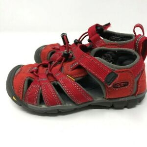Keen-Youth-Size-10-Youth-Newport-Waterproof-Sandals-Red-Outdoor-Shoes