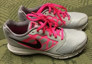 5b8b3609b6 Nike Air Downshifter 6 GIRLS Athletic Shoes Size 5 M YOUTH Grey Pink ...