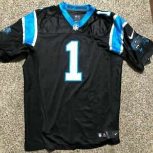 reputable site ea8fb 87464 Nike Carolina Panthers Cam Newton Elite Jersey #1 Home Black Sz 52 2xl
