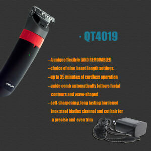 Norelco-Philips-QT4021-QT4019-Stubble-Beard-Mustache-Moustache-Shaver-Trimmer-U
