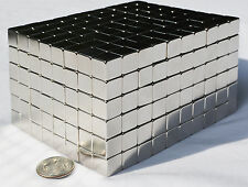"""100 MAGNETS 5mm X 5mm (3/16"""") cubes strongest possible N52 Neodymium - US SELLER"""