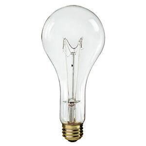 GE extended service 1000 watt 120 V clear Mogul base Incandescent lamp