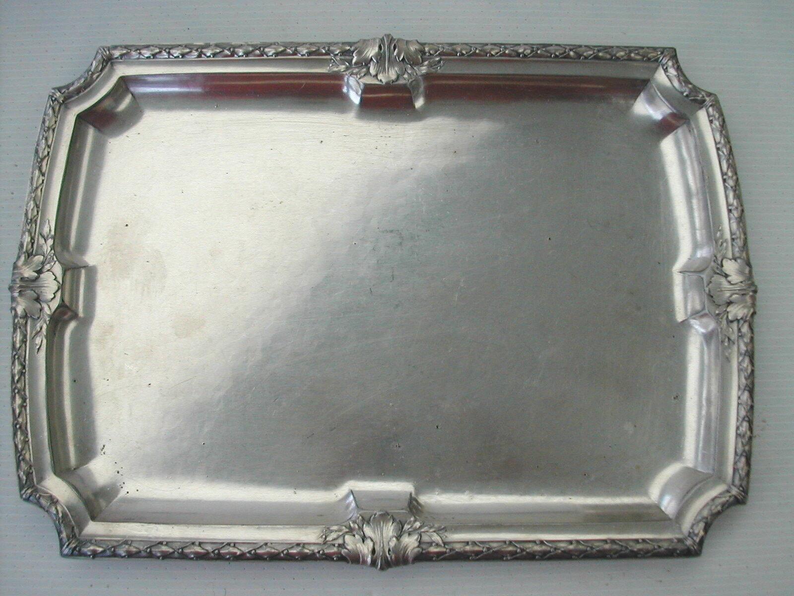 PETIT PLATEAU RECTANGULAIRE GALLIA N° 5125 DEBUT XXème siècle