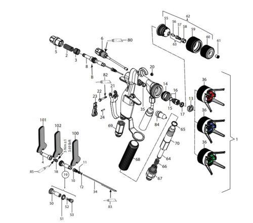 WAGNER Service-Set 394942 Reparatursatz AirCoat Pistole AC 4600 Professional NEU