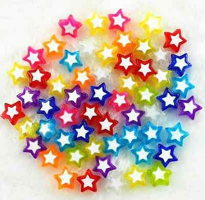 150Pcs 9mm Candy Color Acrylic Star Shape Spacer Beads Jewelry Making