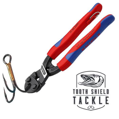 "Knipex 8/"" CoBolt Compact Fishing Hook Cutter Musky Fishing Hook Snips Muskie"