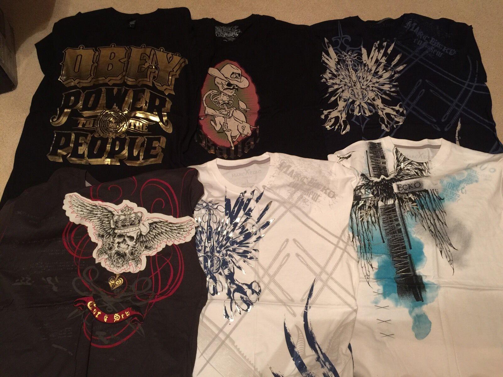 11 Graphic Tee Shirts Sz Large Ecko Cut & Sew, Pristine Condition