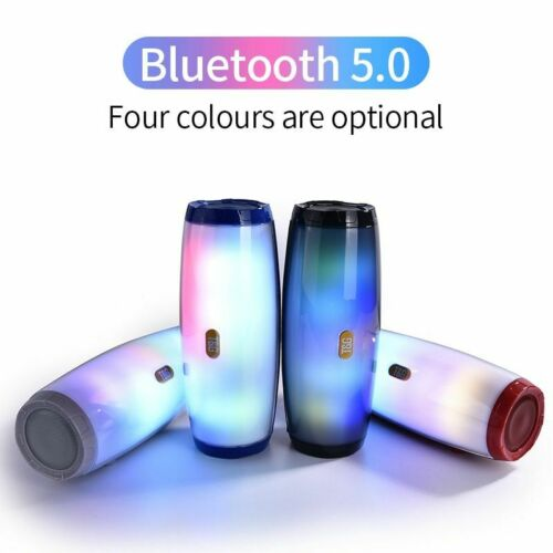 TG165 Portable Bluetooth Speaker Stereo Leather Column 5 Flash Style LED Subwoof