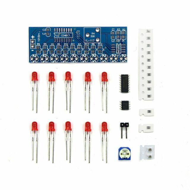 NE555 + CD4017 Flowing Light Flow Water Lights Electronic DIY Parts Kit Hot Sale