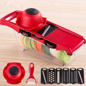 Multi-Function-Mandoline-Slicer-Vegetable-Fruit-Chopper-Cutter-Grater-6-Blades