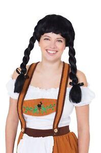 Fraulein Pigtail Wig Noir, Oktoberfest, Robe Fantaisie-afficher Le Titre D'origine Pour Revigorer Efficacement La Santé