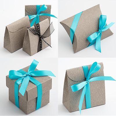 Grey Linea Wedding Favour Boxes