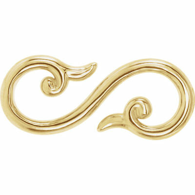 14 KT Yellow Gold Diamond S-Hook Design Clasp Extender Etc Clever /& Handy NEW
