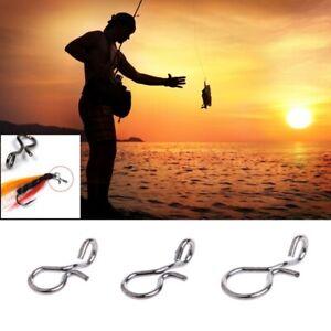 50pcs Carp Fishing Clip Swivel Snap Link Quick Change Connector Tackle Hook