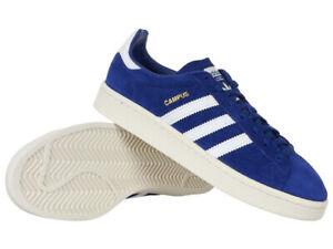 Details zu Damen Adidas Originals Campus Schuhe blau Leder Everyday Trainer