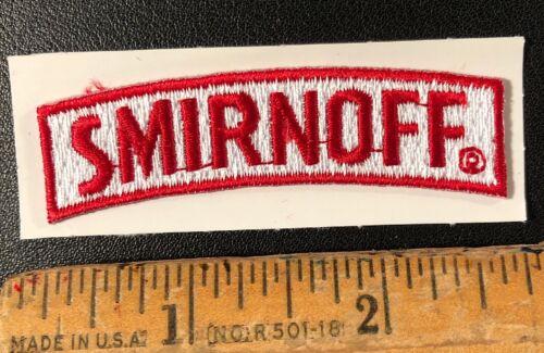 "Smirnoff Vodka Distillery Liquor Embroidered Logo Patch 2.5"" x 1"""