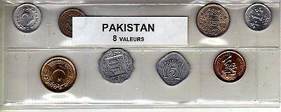 Pakistan Série De 8 Pièces De Monnaie