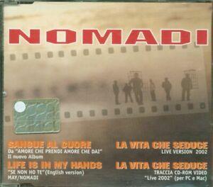 Nomadi-Sangue-Al-Cuore-3-Tracks-Video-Cd-Eccellente