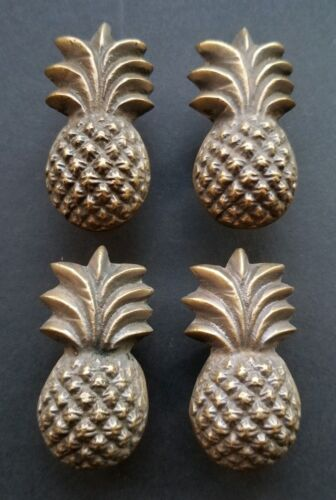 4 pieces Solid Brass Tropical PINEAPPLE Cabinet Drawer Handle Knob Pulls #K17