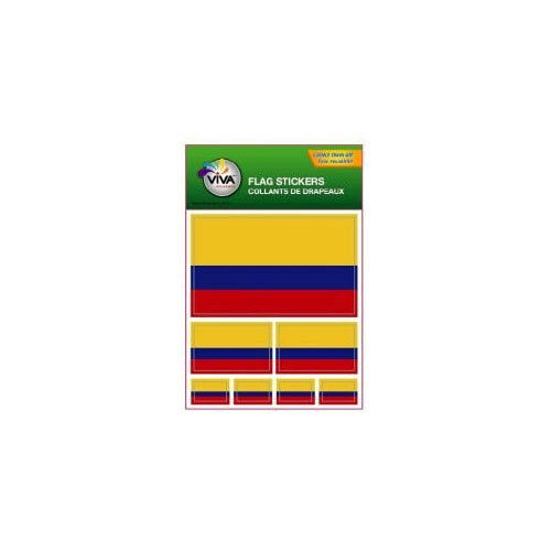 NEW 3 SIZES . COLOMBIA SET OF 7 COUNTRY FLAG VINYL CAR STICKERS