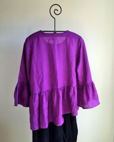 Plus increspato Light Vivid Purple in chiaro Realizzato mano 24w Size Lino a lino gZwH6ngq
