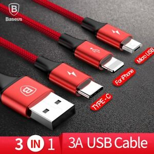 Baseus-3-in-1-Multi-USB-Charger-Data-Cable-for-iPhone-X-8-7-6s-Samsung