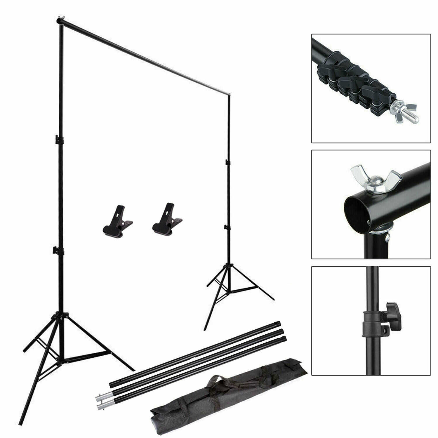 Adjustable Photography Studio Background Support Stand Photo Crossbar Studio Kit 2