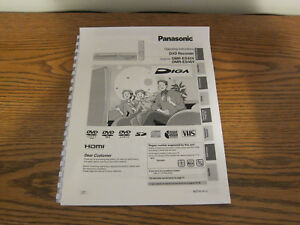 panasonic dmr es45v dmr es46v operating instructions user manual ebay rh ebay com Panasonic DVD Recorder Panasonic VCR
