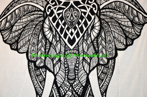 Tapestry Queen Wall Tapestries Wall Hanging Cotton Bedspread Indian Elephant