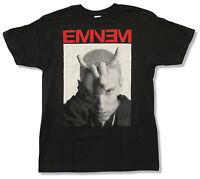 Eminem horns Image Black T Shirt Official Adult