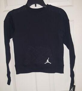 a1713b64b4eb03 Image is loading New-Nike-Air-Jordan-Jumpman-Youth-Black-Sweatshirt-