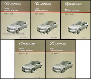2007 lexus gs 450h hybrid repair shop manual set gs450h original rh ebay com 2009 lexus gs 450h owners manual lexus gs450h workshop manual