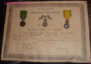 DIPLOME-amp-MEDAILLES-ancien-soldat-du-42-R-I-1870-1871-CORSE-1926