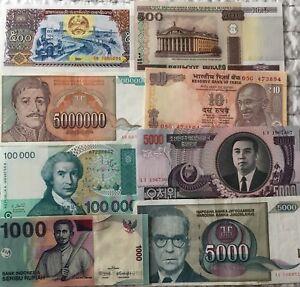 Lot#18B UNC From Bundle 14 Pcs Different World Paper Money Set//Lot