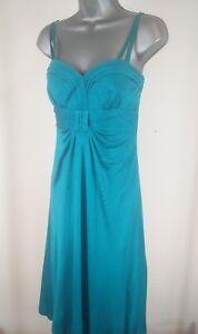 WOMENS-MONSOON-GREEN-BLUE-SILK-DRESS-UK-10-COCKTAIL-PARTY-EVENING-WEDDING