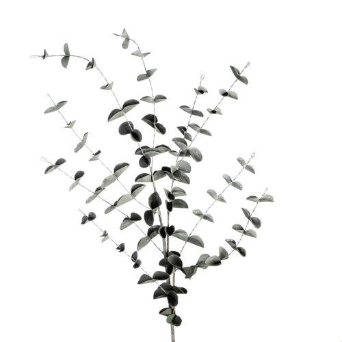 Foam Flower Eukalyptus Blätterzweig dunkelgrün 90cm Kunstschaum Casablanca