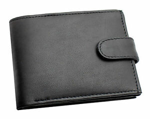 MENS RFID REAL LEATHER WALLET WITH CREDIT CARD ID ZIP COIN POCKET PURSE 421