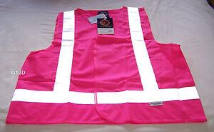 Ritemate-Australia-Mens-Pink-High-Vis-Safety-Vest-3M-Reflective-Size-XS-New