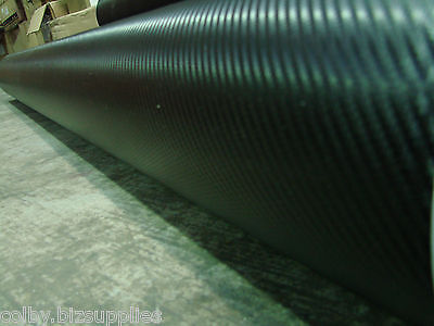 BLACK 3D Carbon Fiber Car Wrap Film - Bubble Free Sticker Vinyl Roll - 1520x10m