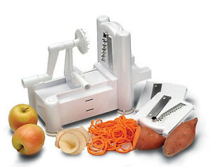 Paderno world cuisine a4982799 tri blade spiral vegetable - Paderno world cuisine spiral vegetable slicer ...