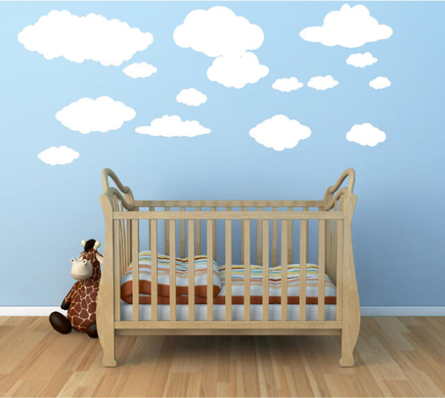 WALL STICKERS  15 Clouds stickers  WALL QUOTES STICKERS  WALL DECAL  S58