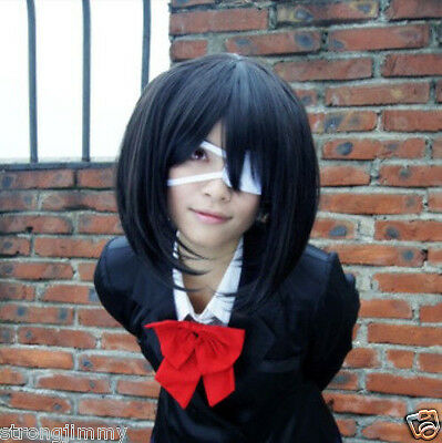 HOT Another Misaki Mei Cosplay Costume Short Black Wig free shipping R/H01